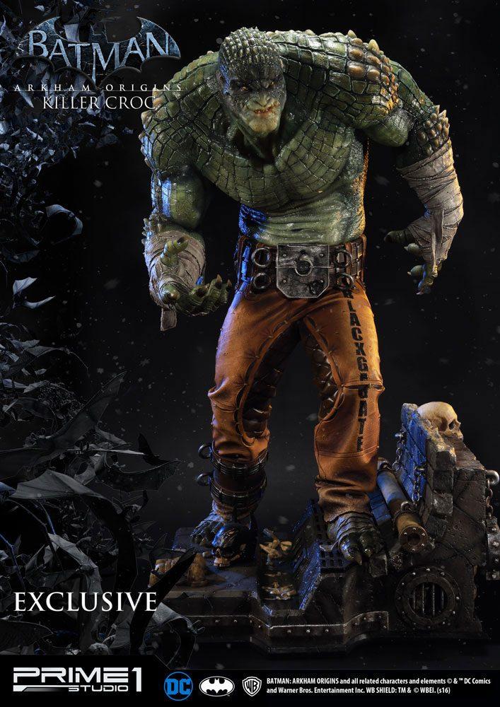 Batman Arkham Origins Statue Killer Croc Exclusive 90 cm