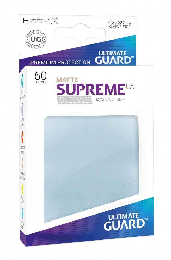 Ultimate Guard Supreme UX Sleeves Japanese Size Matte Transparent (60)
