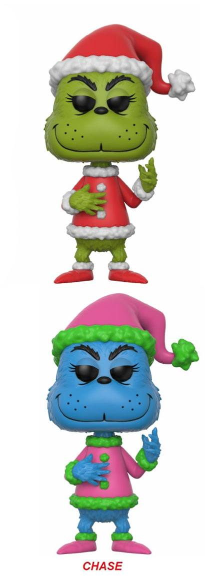The Grinch POP! Books Vinyl Figures Grinch in Santa Outfit 9 cm Assortment (6)