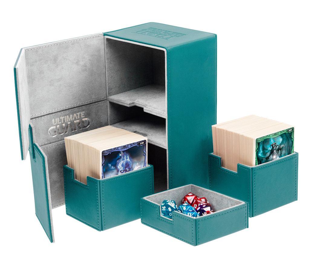 Ultimate Guard Twin Flip´n´Tray  Deck Case 200+ Standard Size XenoSkin™ Petrol Blue