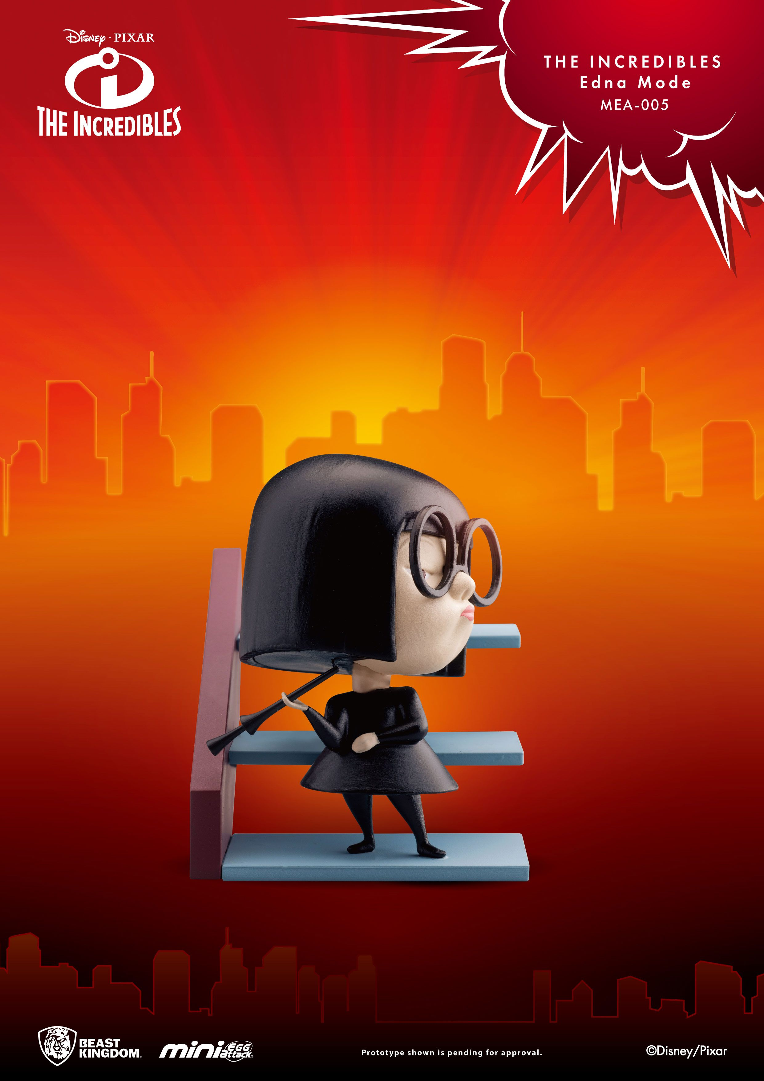 The Incredibles Mini Egg Attack Figure Edna Mode 6 cm