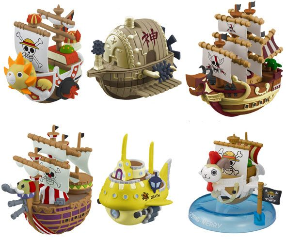 One Piece Yura Series 3 Wobbling Pirate Ship Collection Box 6 cm Assortment (6)