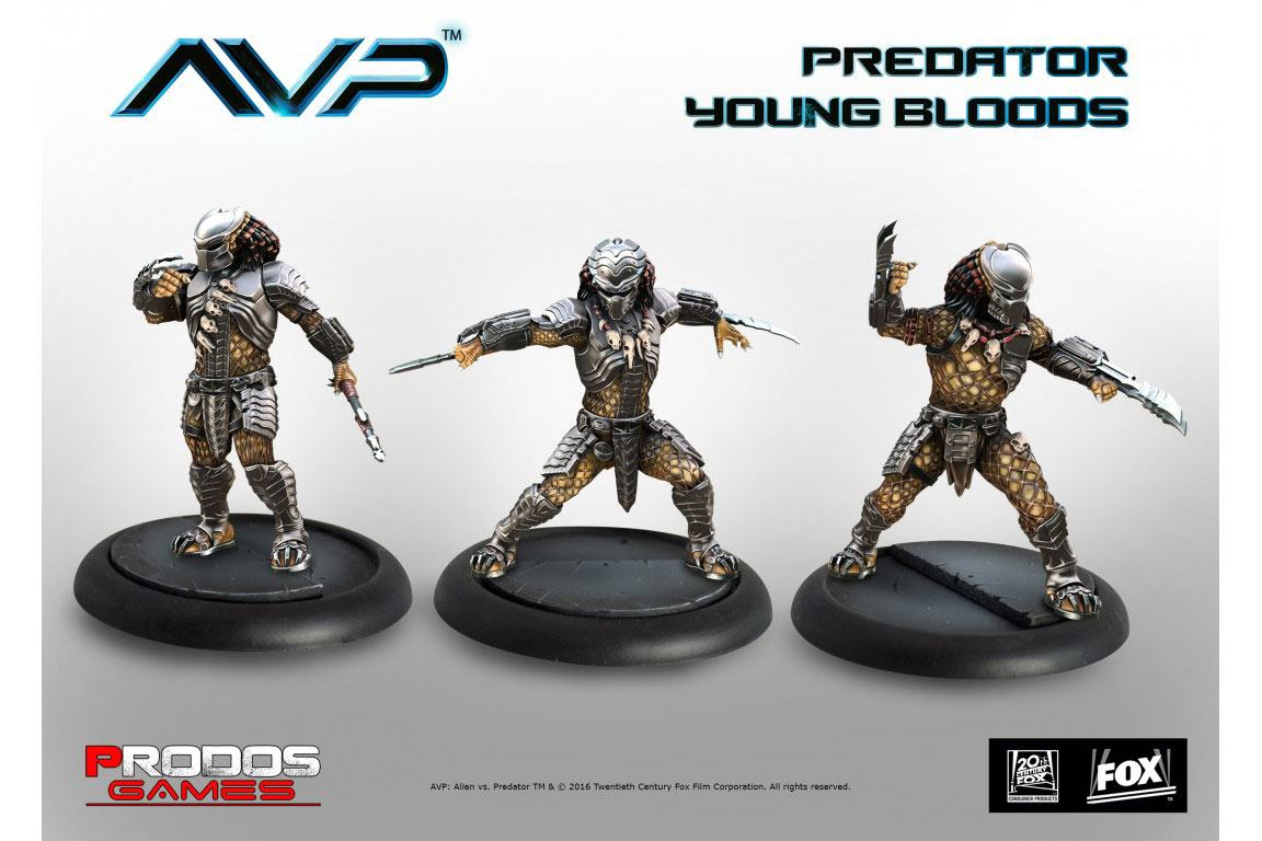 Alien Vs Predator Board Game The Hunt Begins Expansion Pack Predator Young Bloods *English Version*