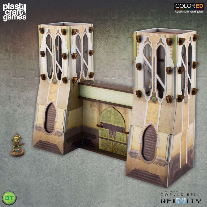 Infinity ColorED Miniature Gaming Model Kit 28 mm Bourak City Gate