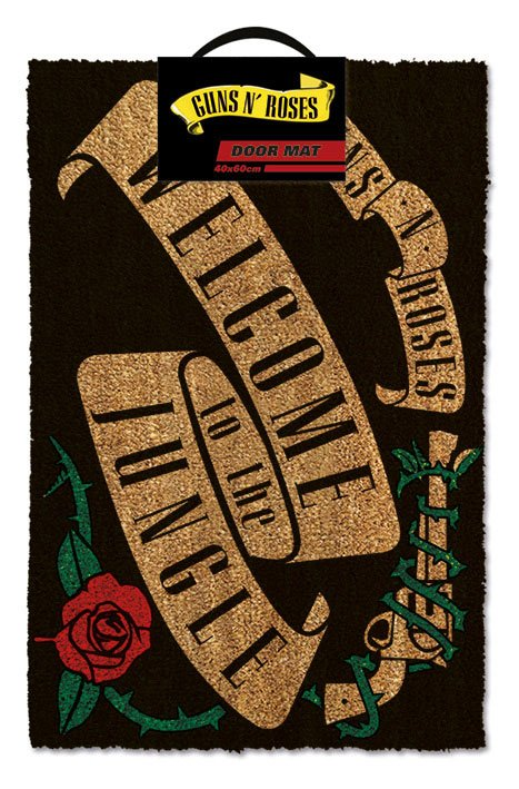 Guns n' Roses Doormat Welcome to the Jungle 40 x 60 cm