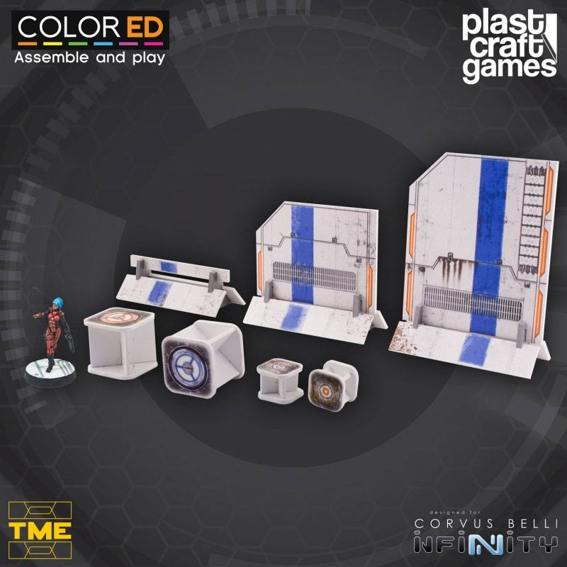 Infinity ColorED Miniature Gaming Model Kit 28 mm TME Prop Set