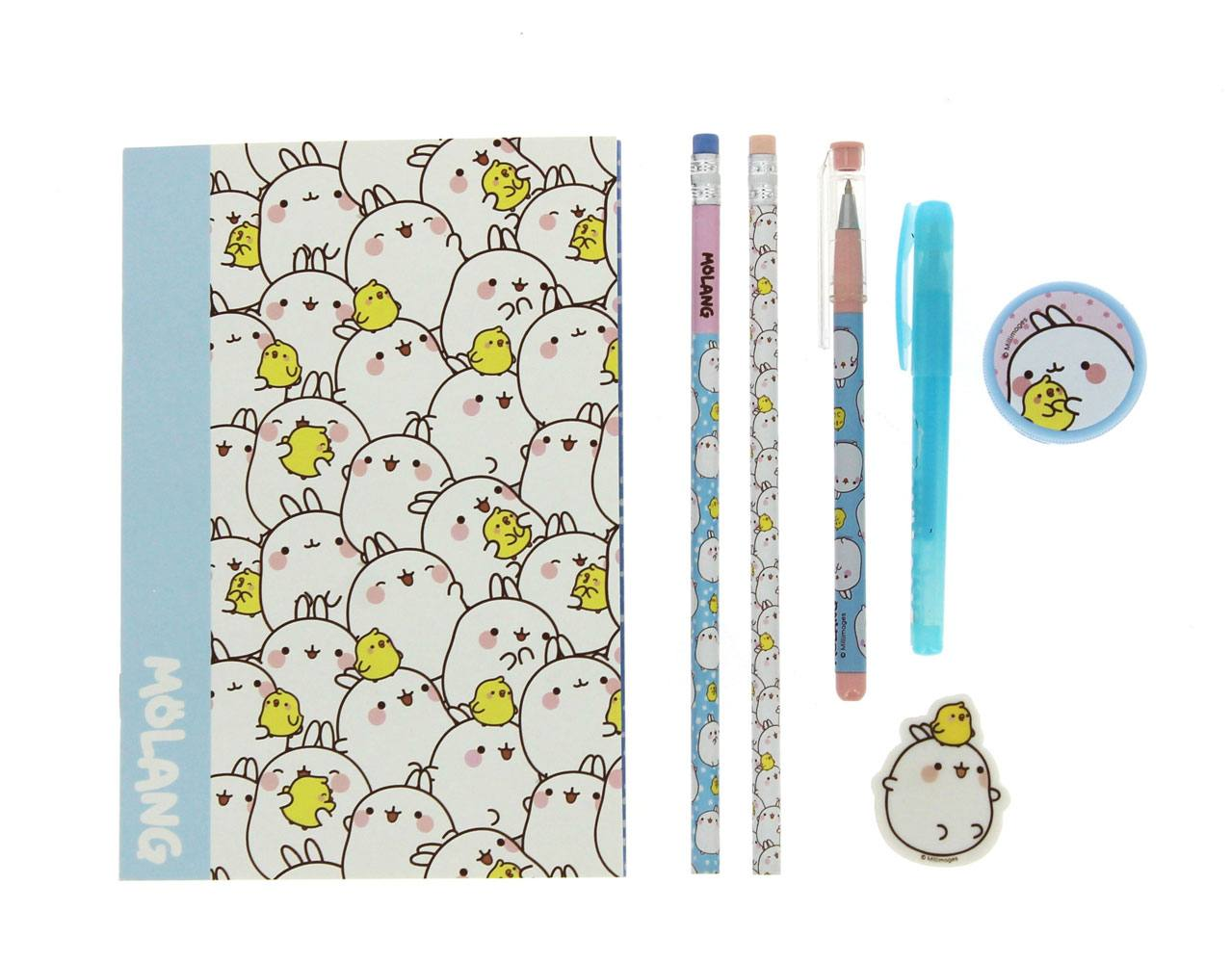 Molang 7-Piece Stationery Set