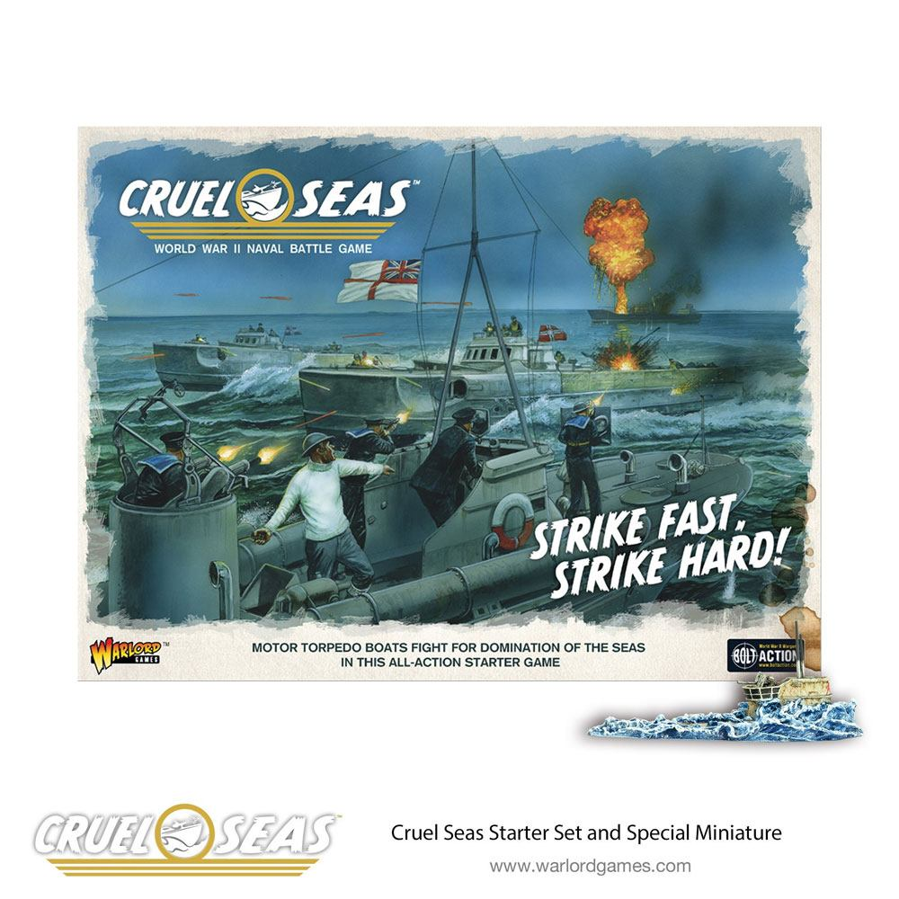 Cruel Seas Miniatures Game Starter Set Strike Fast, Strike Hard *English Version*
