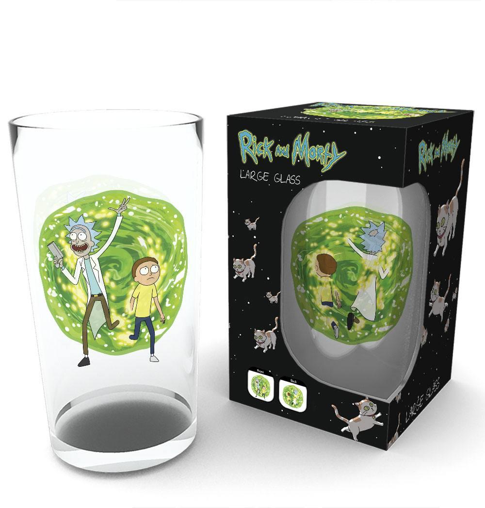 Rick and Morty Pint Glass Portal