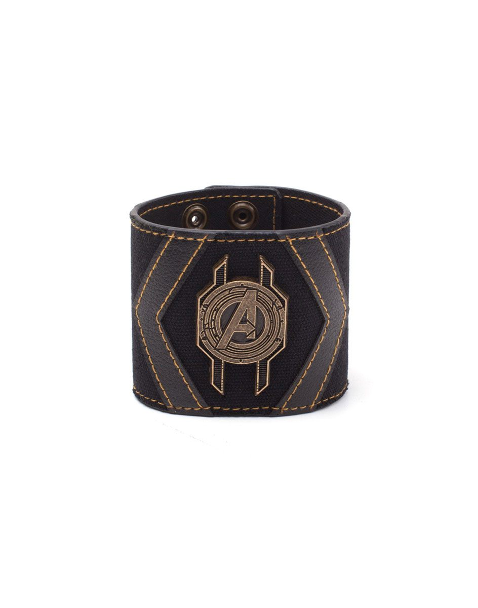 Avengers Infinity War Leather Wristband Crest Logo
