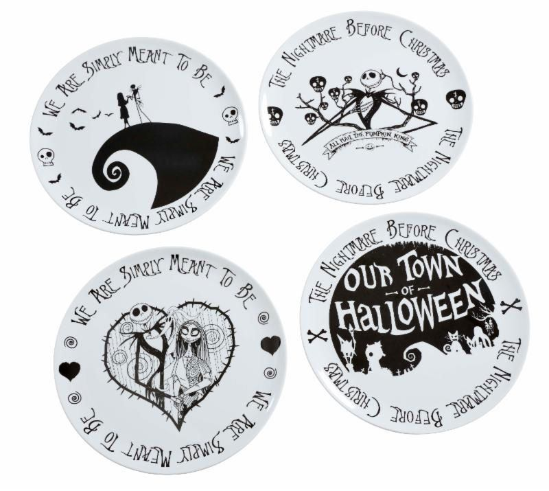 Nightmare before Christmas Plates 4-Pack We Are Simply Meant to Be