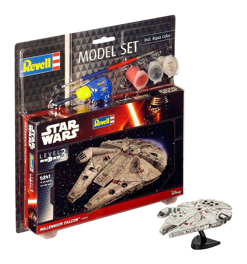 Star Wars Model Kit 1/241 Model Set Millennium Falcon 10 cm