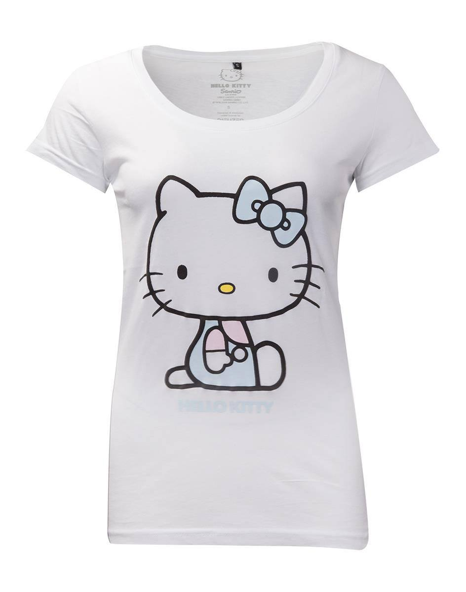 Hello Kitty Ladies T-Shirt Embroidery Details Size L