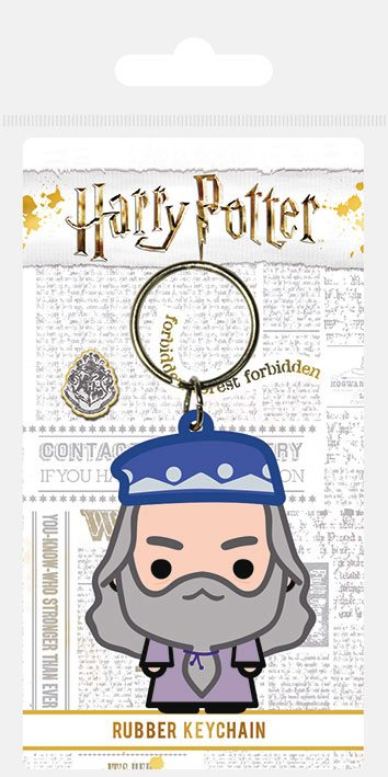Harry Potter Rubber Keychain Chibi Dumbledore 6 cm