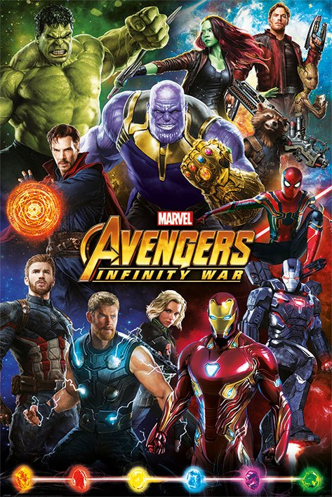 Avengers Infinity War Poster Pack Characters 61 x 91 cm (5)