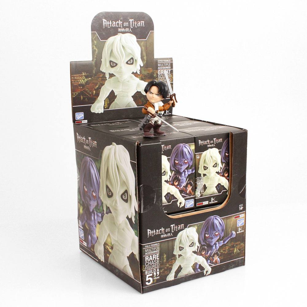 Attack on Titan Action Vinyl Mini Figures 8 cm TRU Display (12)