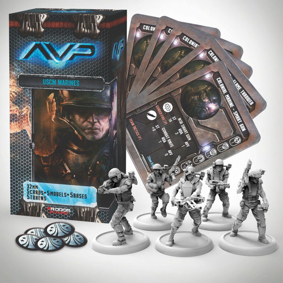 AvP Tabletop Game The Hunt Begins Expansion Pack USCM Marines *German Version*