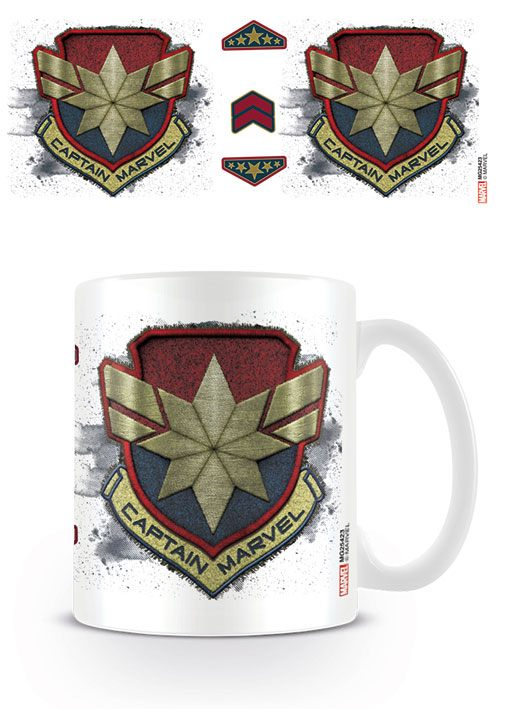 Captain Marvel Mug Badge
