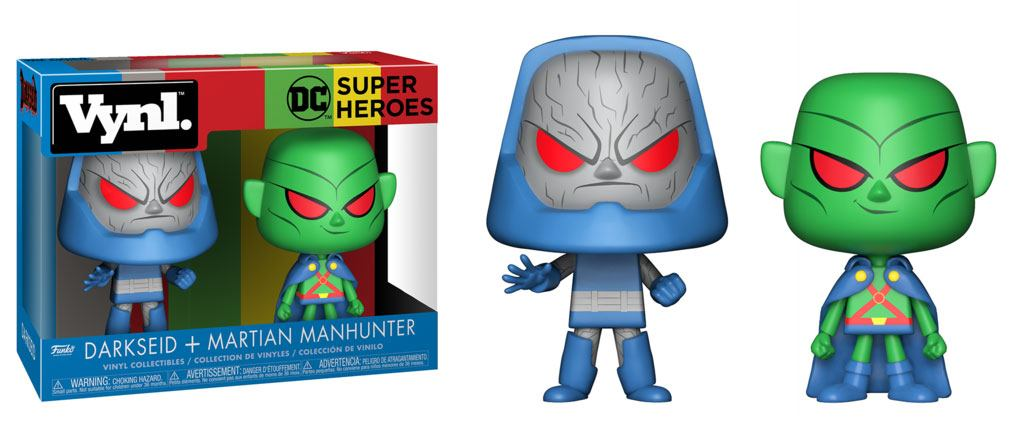 DC Comics VYNL Vinyl Figures 2-Pack Martian Manhunter vs Darkseid 10 cm