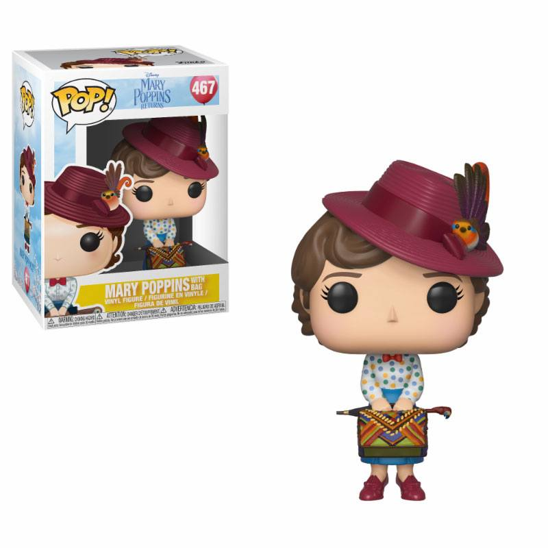 Mary Poppins 2018 POP! Disney Vinyl Figure Mary with Bag 9 cm