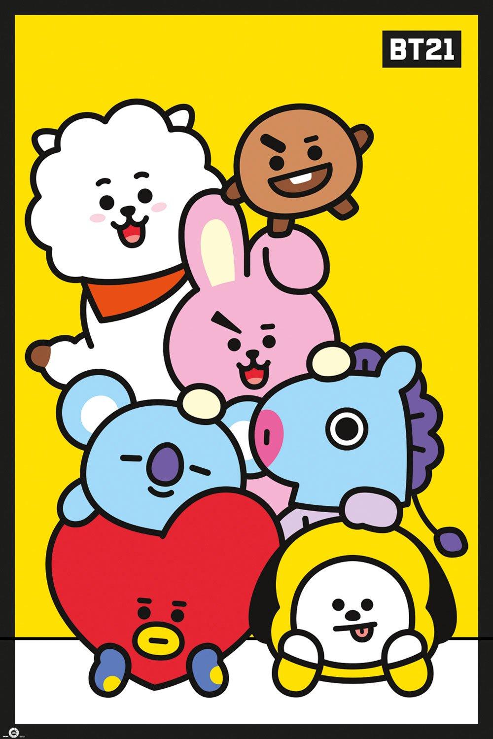 BT21 Poster Pack Pileup 61 x 91 cm (5)