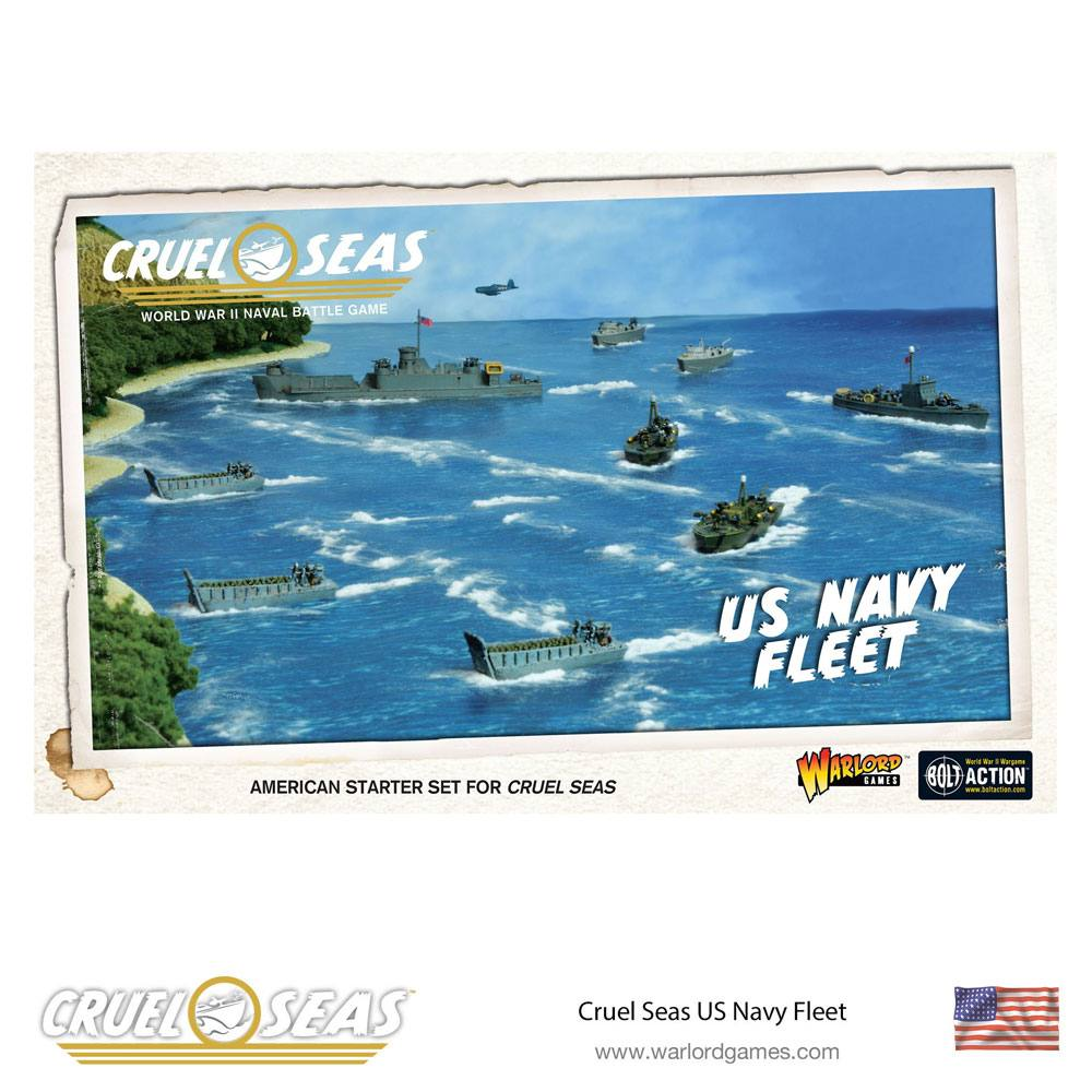 Cruel Seas Miniatures Game Expansion Set US Navy Fleet *English Version*