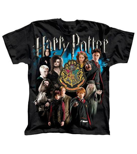Harry Potter T-Shirt Character Collage  Size S