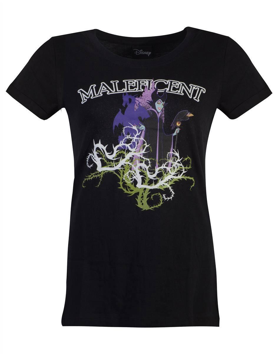 Maleficent Ladies T-Shirt Gel Print Size L