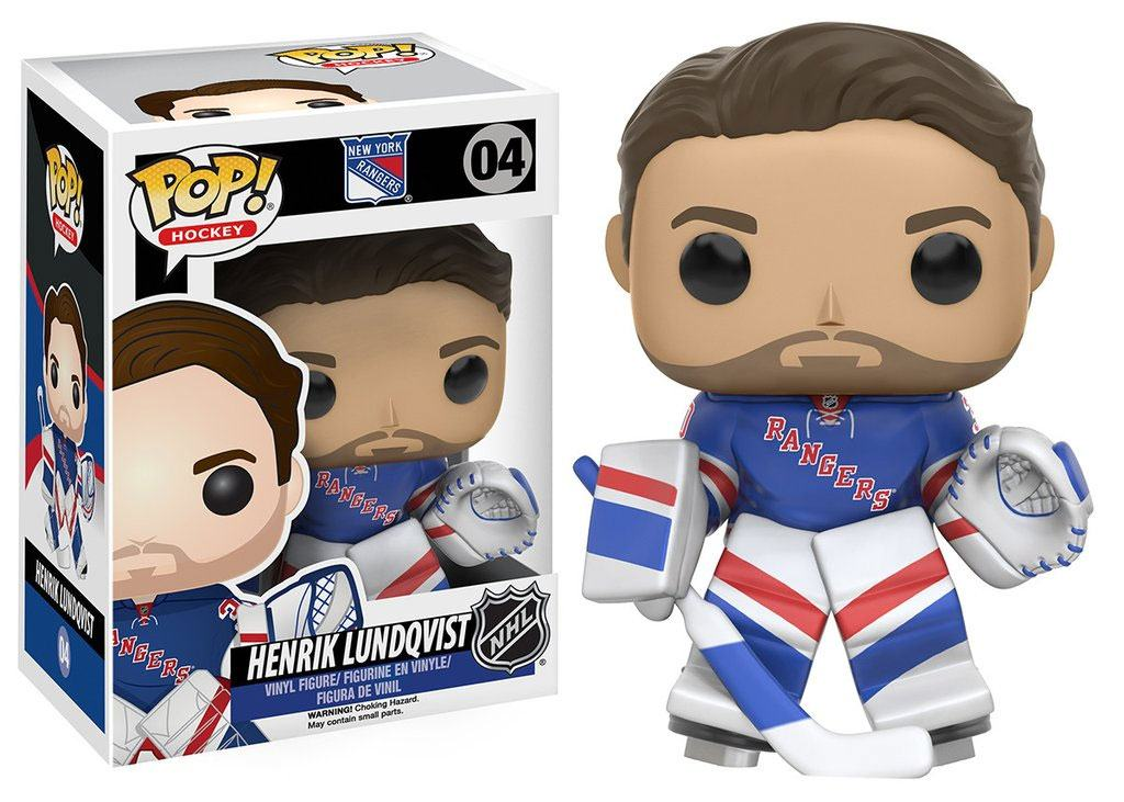 NHL POP! Hockey Vinyl Figure Henrik Lundqvist (New York Rangers) 9 cm