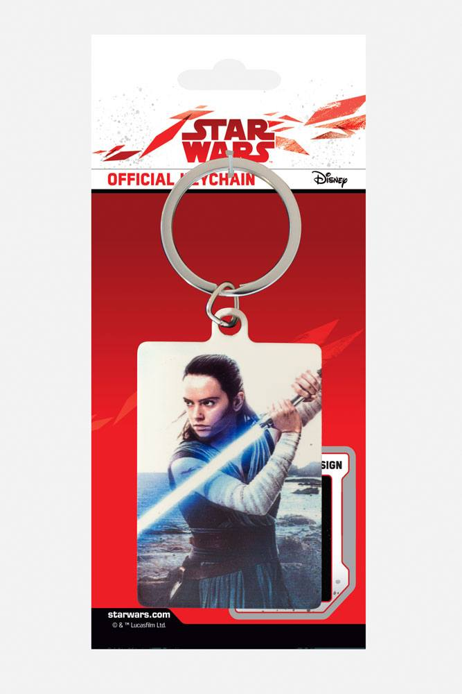 Star Wars Episode VIII Metal Keychain Rey Engage 6 cm