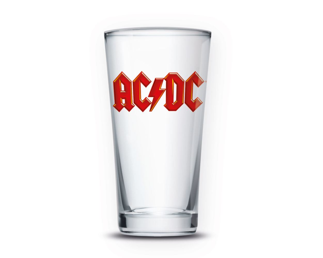 AC/DC Pint Glass Logo
