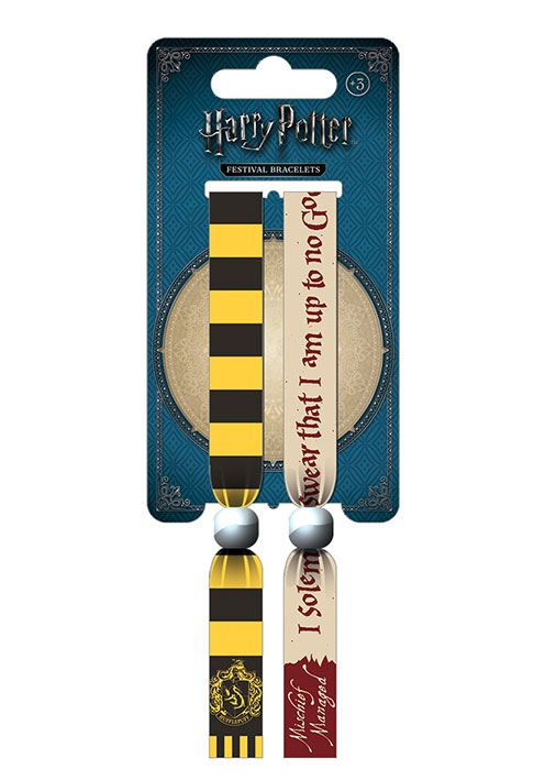 Harry Potter Festival Wristband 2-Pack Hufflepuff