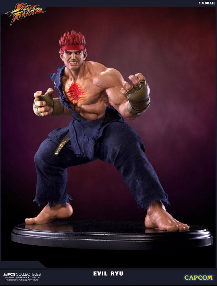 Street Fighter IV Statue 1/4 Evil Ryu 42 cm