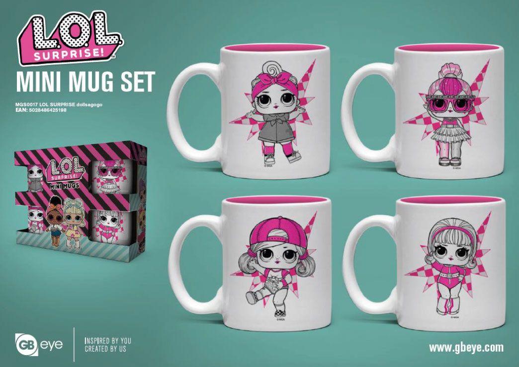 L.O.L. Surprise! Espresso Mugs 4-Pack Dollsagogo