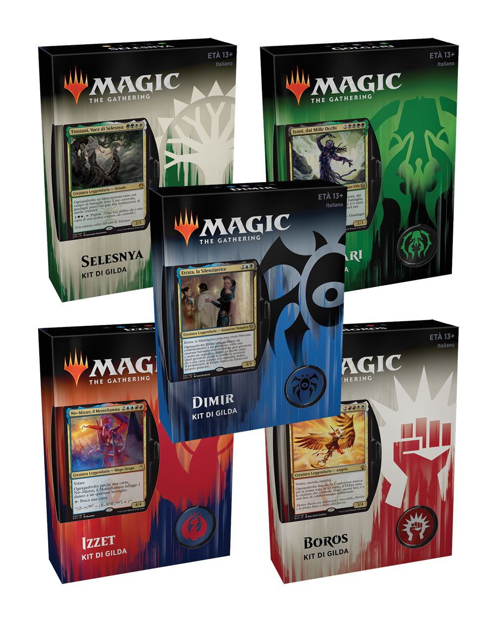Magic the Gathering Gilde di Ravnica Guild Kits Display (5) italian