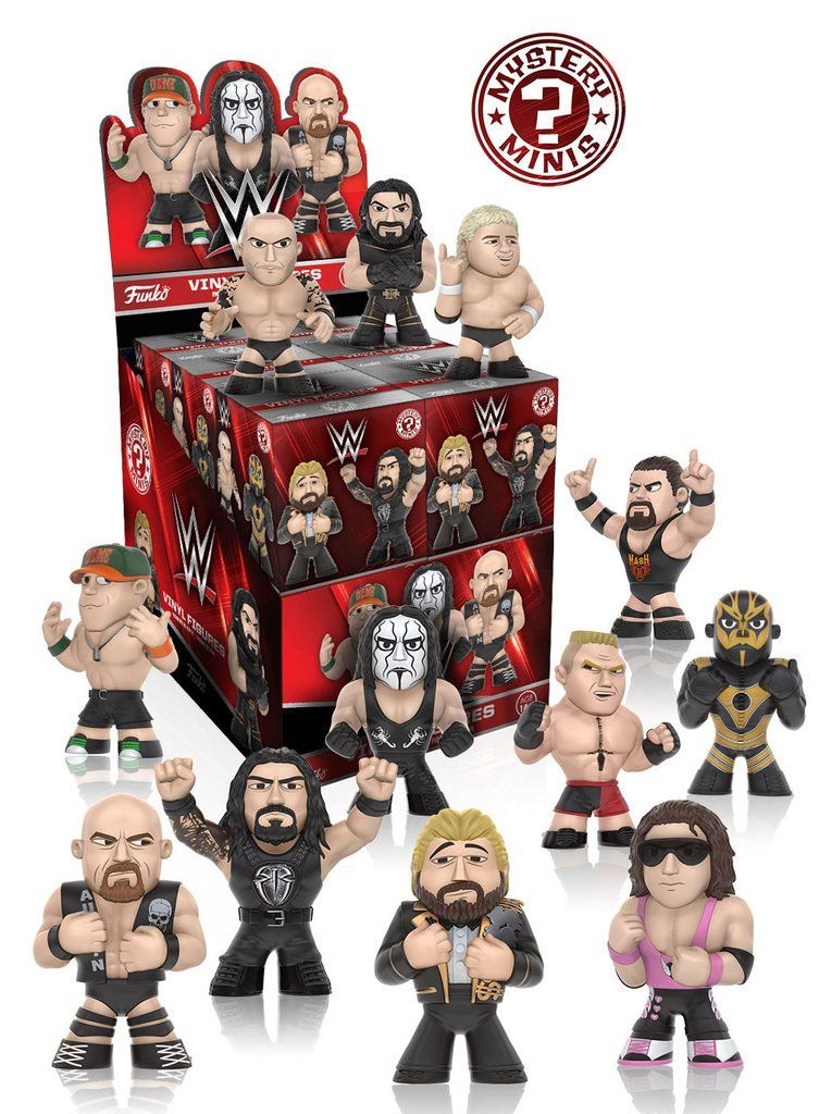 WWE Mystery Minis Vinyl Mini Figures 6 cm Series 2 Display (12)