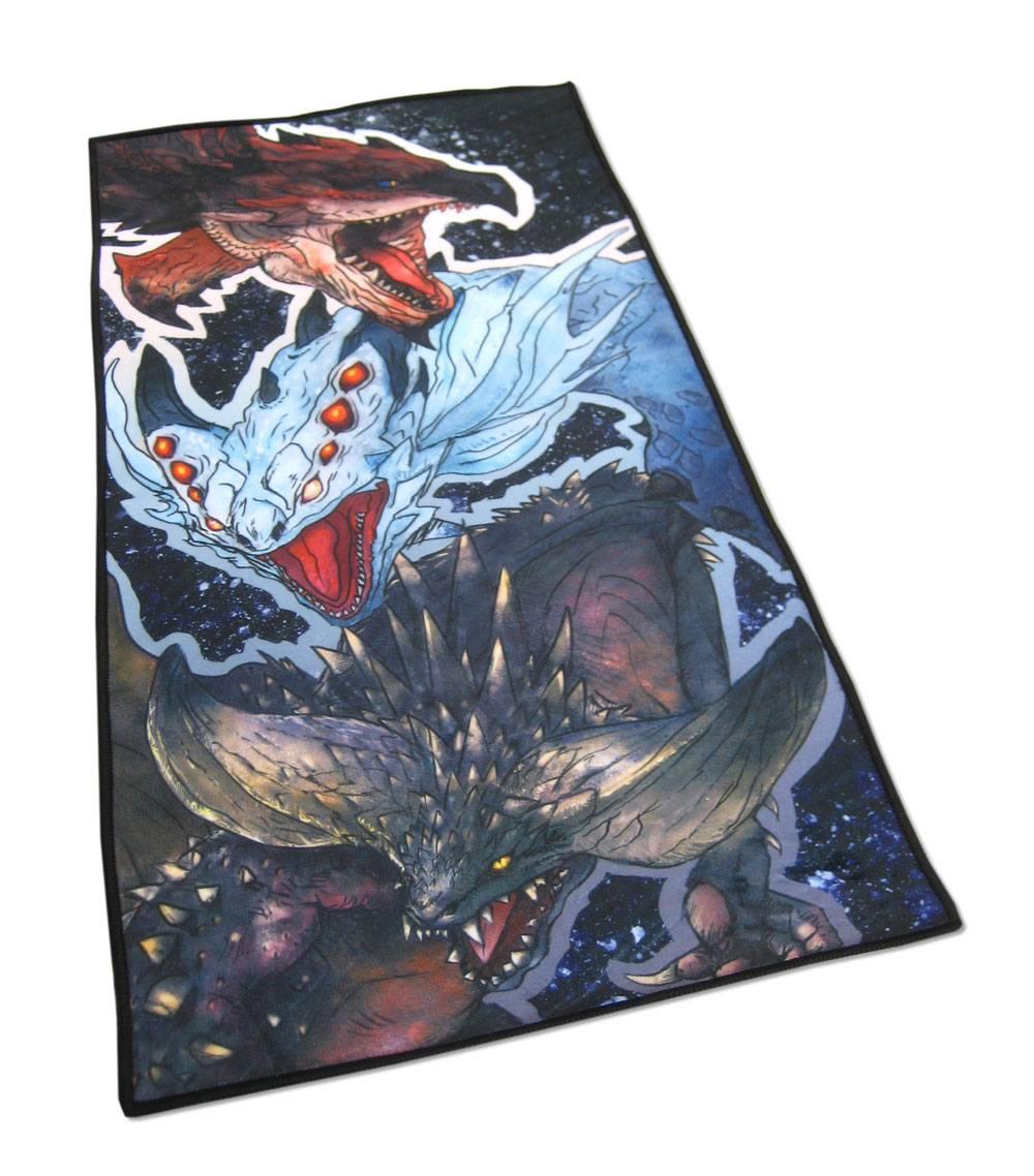 Monster Hunter World Towel Rathalos, Xenojiva & Nergikante 150 x 75 cm