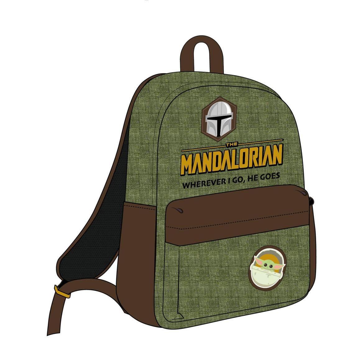 Star Wars The Mandalorian Backpack Wherever I Go