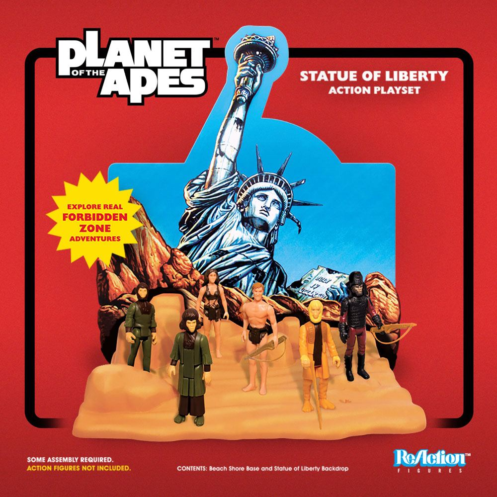 Planet of the Apes ReAction Playset Statue of Liberty SDCC 2018 --- DAMAGED PACKAGING