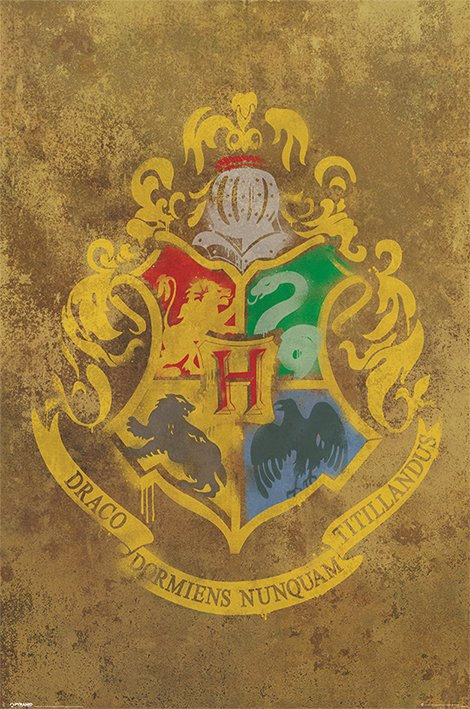 Harry Potter Poster Pack Hogwarts Crest 61 x 91 cm (5)