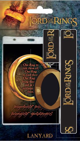Lord of the Rings Lanyard with Rubber Keychain One Ring
