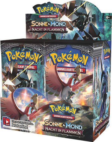 Pokemon Sonne und Mond 3 Nacht in Flammen Booster Display (36) *German Version*