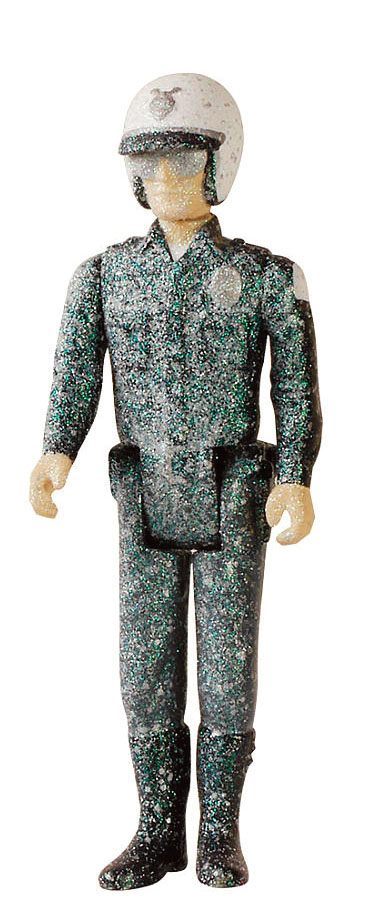 Terminator 2 ReAction Action Figure T-1000 Patrolman Frozen 10 cm