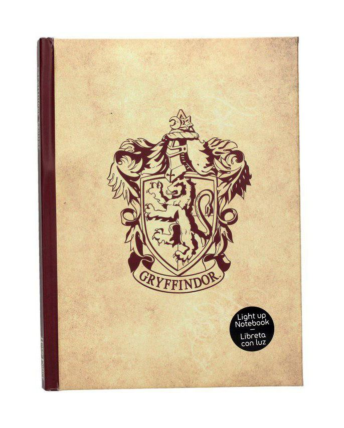 Harry Potter Notebook with Light Gryffindor