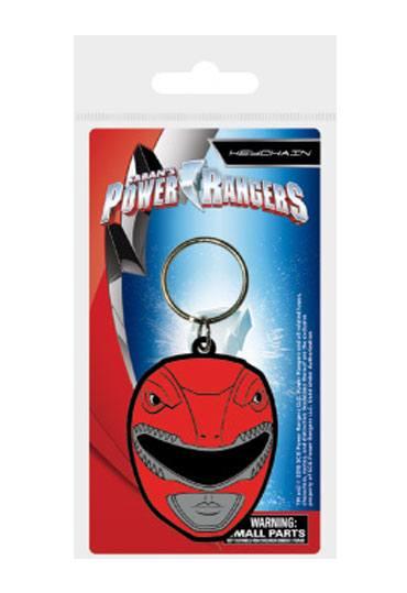 Power Rangers Rubber Keychain Red Ranger Helmet 6 cm