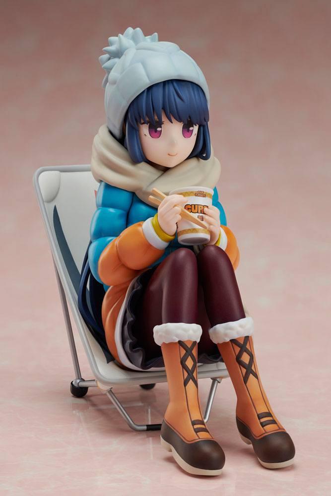 Laid-Back Camp Premium Noodle Stopper PVC Statue 1/8 Rin Shima 12 cm