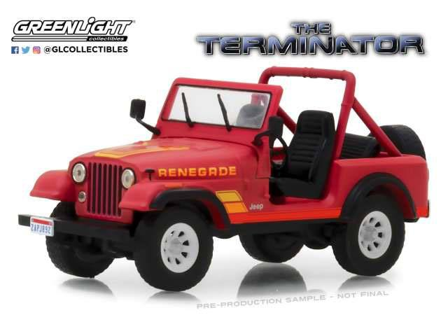 Terminator Diecast Model 1/43 1983 Sarah Conner's Jeep CJ-7