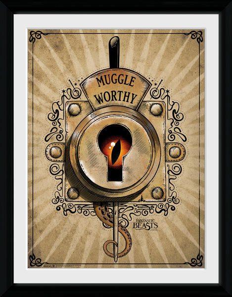 Fantastic Beasts Framed Poster Muggle Worthy 45 x 34 cm