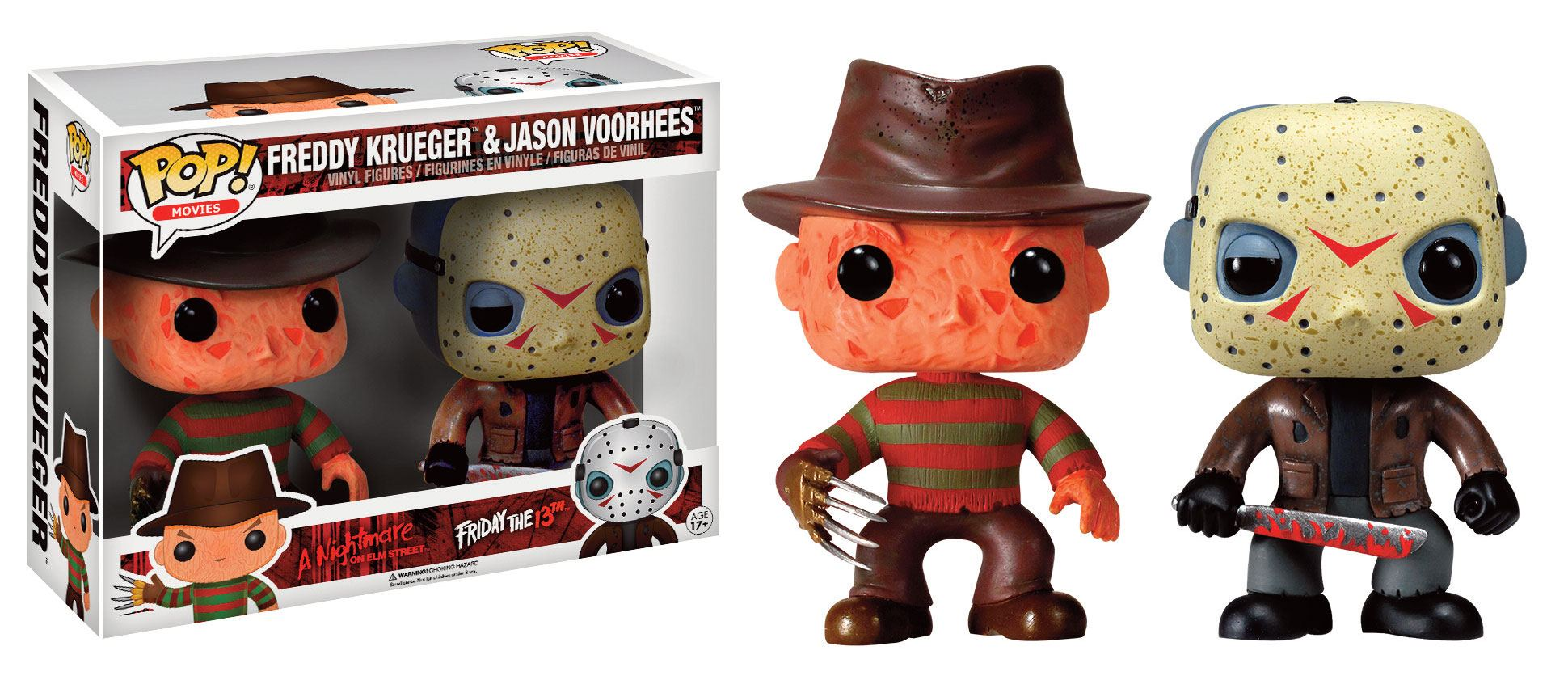 Horror Classics POP! Movies Vinyl Figures 2 Pack Jason & Freddy 9 cm