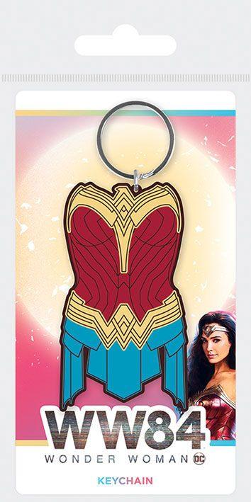 Wonder Woman 1984 Rubber Keychains Amazonian Armor 6 cm Case (10)